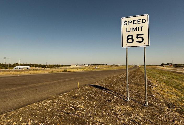 An 85 mph speed limit sign is placed on the 41-mile-long toll road in Austin, near the increasingly crowded Interstate between Austin and San Antonio, Texas on Thursday, Sept. 6, 2012. While some drivers will want to test their horsepower and radar detectors, others are asking if safety is taking a backseat to pure speed. (AP Photo/Statesman.com, Ricardo B. Brazziell) MAGS OUT; NO SALES; INTERNET AND TV MUST CREDIT PHOTOGRAPHER AND STATESMAN.COM