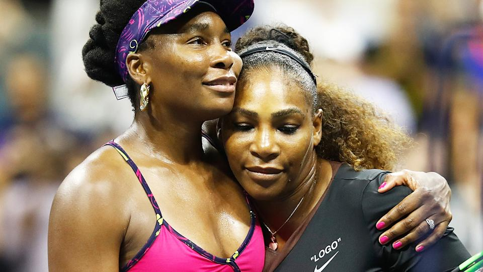 Venus and Serena Williams, pictured here at the US Open in 2018.