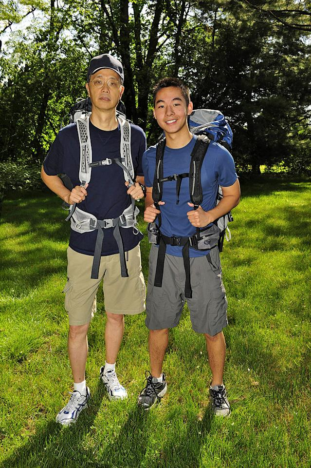 """Father/son teammates Michael (left) and Kevin Wu compete in """"The Amazing Race 17."""""""