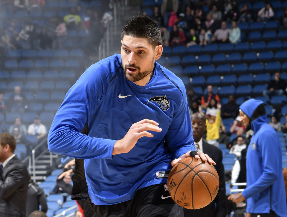 Nikola Vucevic has averaged 17.8 points and 9.6 rebounds for the Magic this season. (Getty)