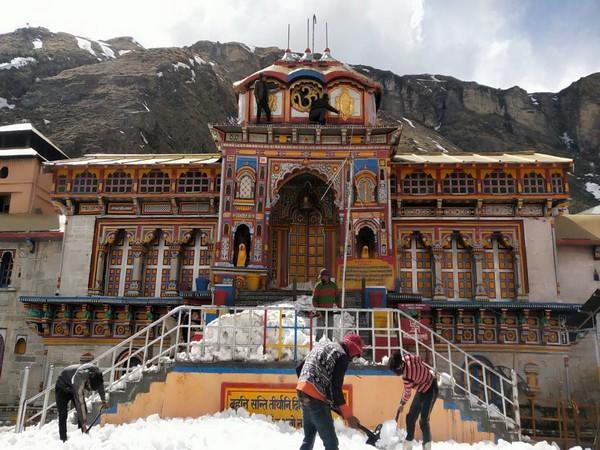 Visual from Badrinath Temple (ANI).