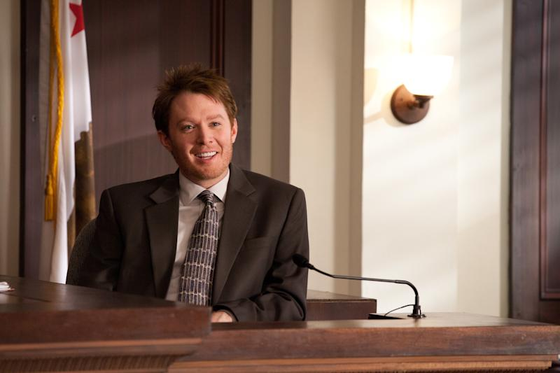"""In this publicity image released by Lifetime Television, former """"American Idol"""" runner-up Clay Aiken is shown during a guest-starring appearance on """"Drop Dead Diva.""""  Aiken will be seen in an upcoming episode of the series, airing Sunday, July 24, 2011 at 9:00 p.m. EDT on Lifetime.  (AP Photo/Lifetime Television, Bob Mahoney)"""