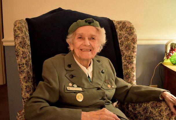 PHOTO: Veronica 'Ronnie' Backenstoe, 98, has been a member of the Girl Scouts since 1932. (Courtesy Phoebe Ministries)