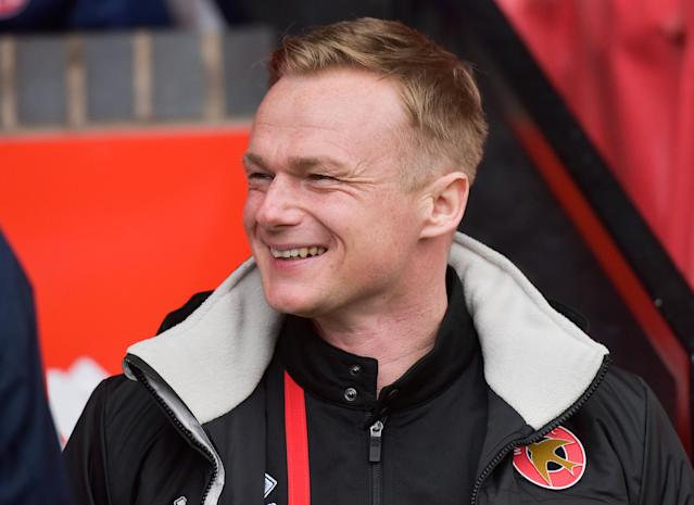 "Soccer Football - League One - Walsall vs Portsmouth - The Banks's Stadium, Walsall, Britain - March 31, 2018 Walsall manager Dean Keates Action Images/Paul Burrows EDITORIAL USE ONLY. No use with unauthorized audio, video, data, fixture lists, club/league logos or ""live"" services. Online in-match use limited to 75 images, no video emulation. No use in betting, games or single club/league/player publications. Please contact your account representative for further details."