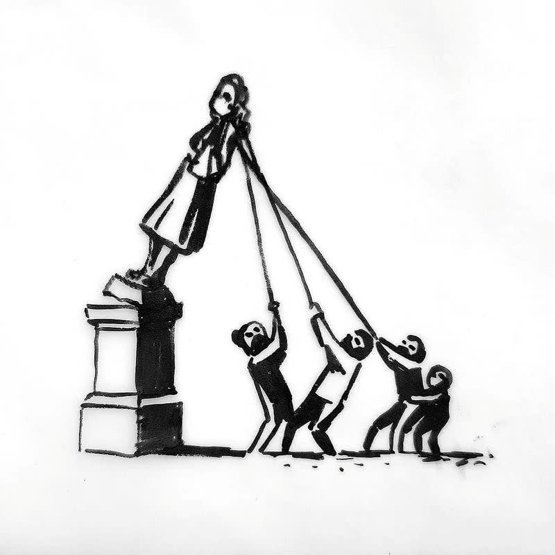 Artist Banksy has new take on toppled statue of English slave trader