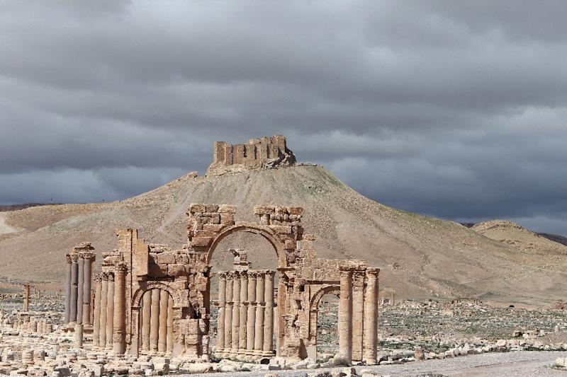 Part of the ancient oasis city of Palmyra, pictured in March 2014 (AFP Photo/Joseph Eid)