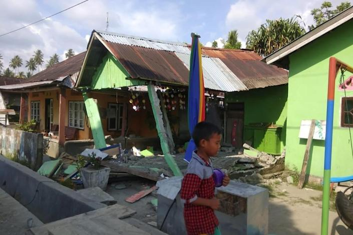 The quake hit Indonesia's central Sulawesi island at a shallow depth of some 10 kilometres (AFP Photo/Handout)