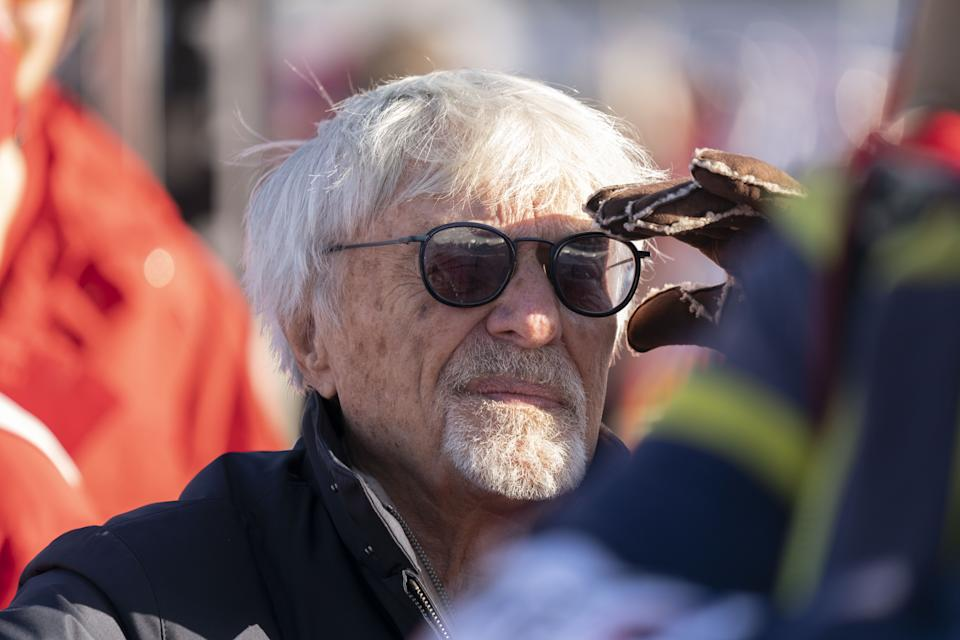 Bernie Ecclestone of United Kingdom during the Audi FIS Alpine Ski World Cup - Men's Super G on January 24, 2020 in Kitzbuehel, Austria. (Photo by Klaus Pressberger/SEPA.Media /Getty Images)