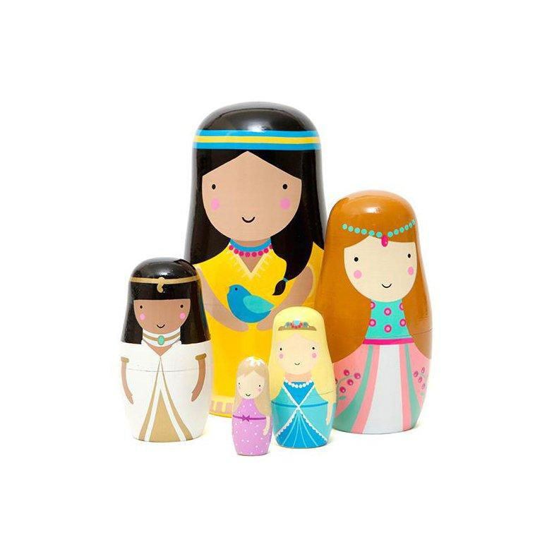 "<p>This set of hand painted nesting dolls depicts princesses from around the world wearing their traditional garb.</p> <p><strong>To buy: </strong>$26; <a href=""https://gretelhome.com/products/nesting-dolls-princess-by-petit-monkey"" target=""_blank"">gretelhome.com</a>.</p>"