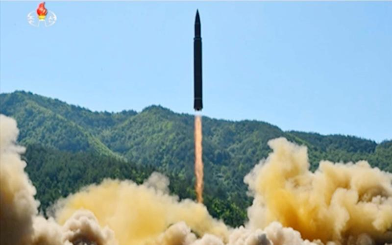 North Korea launches a Hwasong-14 intercontinental ballistic missile - KRT