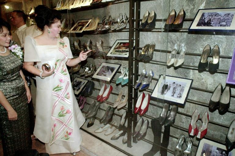 Philippines' former first lady Imelda Marcos, found guilty of corruption, was known for her extensive collection of shoes