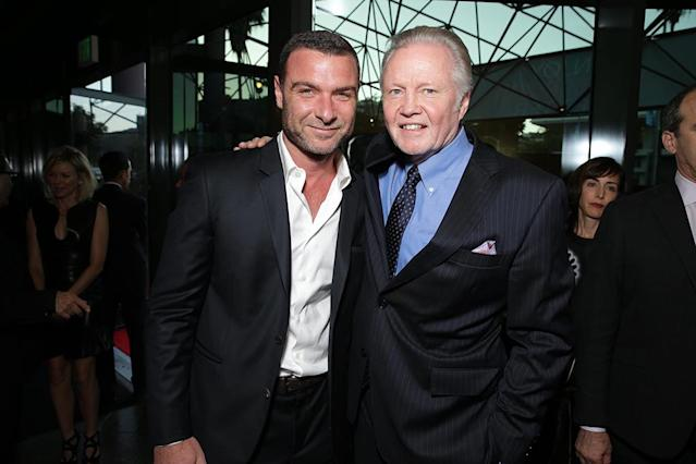 Liev Schreiber and Jon Voight at the Showtime premiere of the new drama series Ray Donovan presented by Time Warner Cable, on Tuesday, June, 25, 2013 in Los Angeles. (Photo by Eric Charbonneau/Invision for Showtime/AP Images)