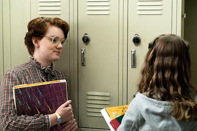 Shannon Purser as Barb and Natalia Dyer as Nancy in <em>Stranger Things</em>(Photo: Netflix/Courtesy Everett Collection)