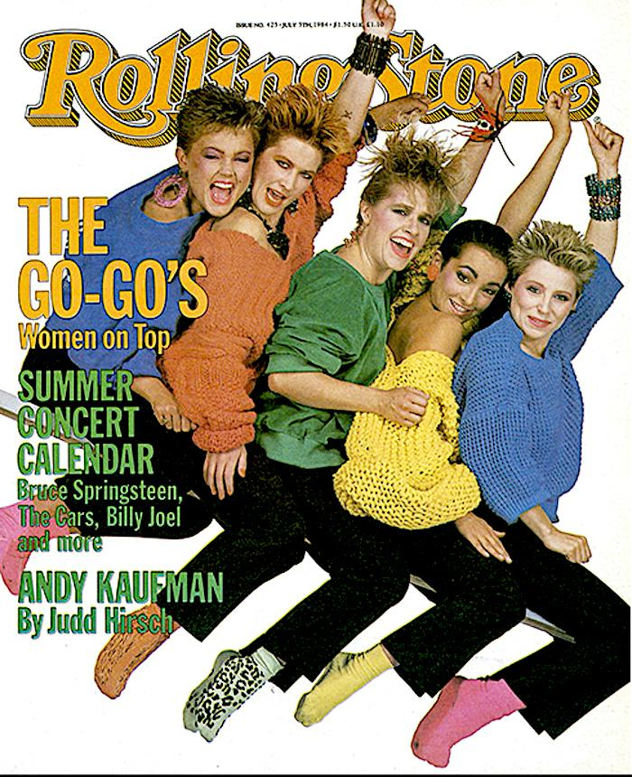 The Go-Go's on the cover of Rolling Stone, 1984. (Photo: Rolling Stone)