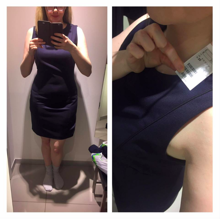 A shopper has called out H&M sizing after having to go up four dress sizes from a 12 to a 20 [Photo: Facebook/Marianne Gray]