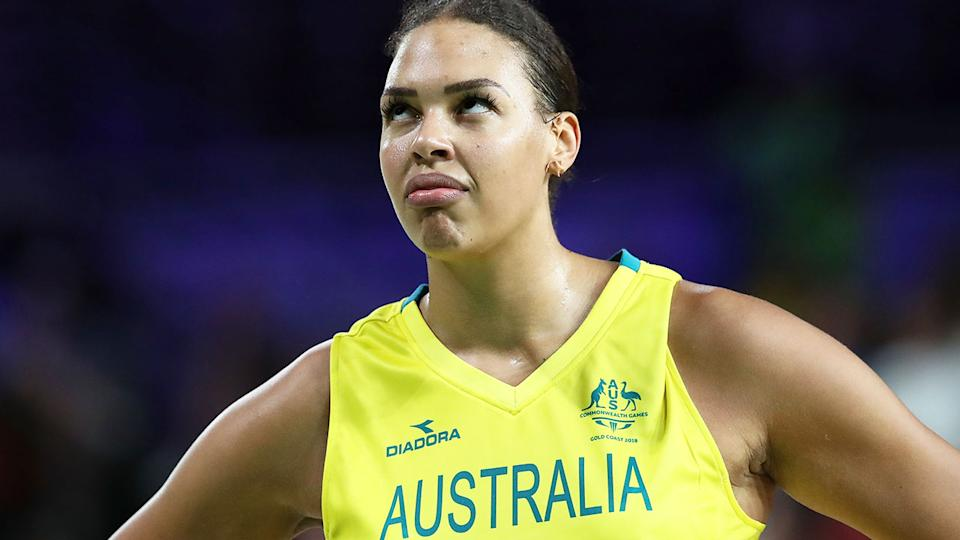 Liz Cambage announced on Friday that she was pulling out of Australia's Olympic Games campaign in Tokyo. Pic: Getty
