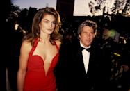 Richard Gere and Cindy Crawford at the 63rd Academy Awards. The pair were married from 1991 to 1995. <em>[Photo: Getty]</em>