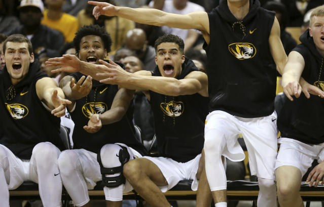 Missouri forward Michael Porter Jr. was on the bench Friday against Iowa State but not three days later against Wagner AP)