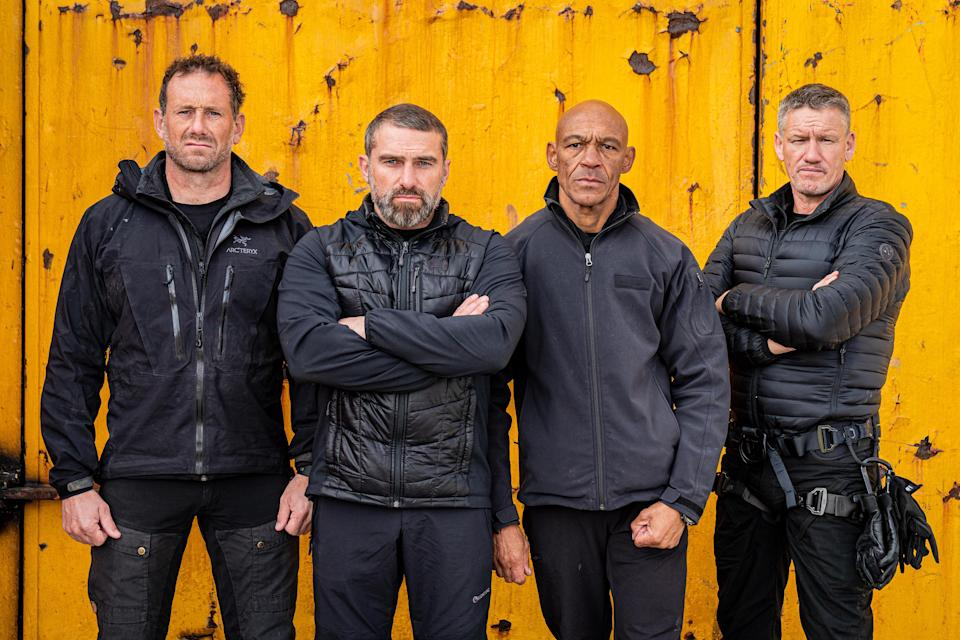 Foxy, Ant, Melvyn and Billy in SAS: Who Dares Wins (Channel 4)