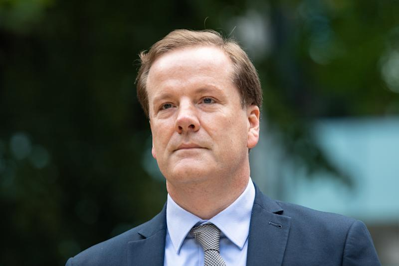 Former Conservative MP Charlie Elphicke arriving at Southwark Crown Court, where he faces three charges of sexual assault.