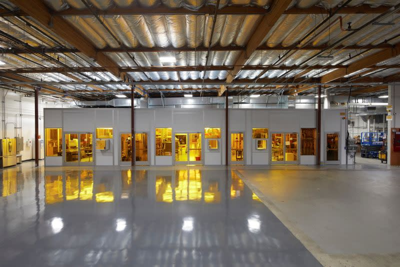 An interior view of the Rigetti Fab-1 integrated quantum device manufacturing facility is seen in Fremont, California