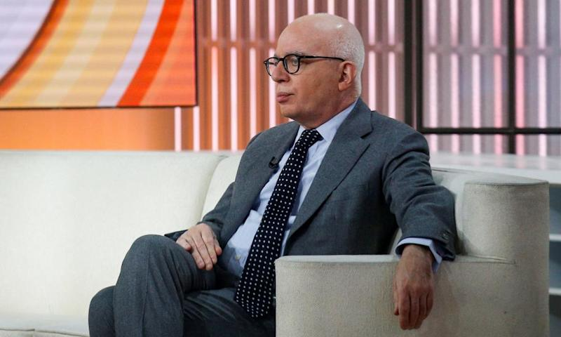 Michael Wolff on the set of NBC's Today show.