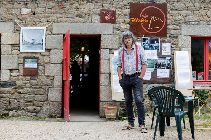 French cafe owner stands up against coronavirus disease (COVID-19) compulsory health pass