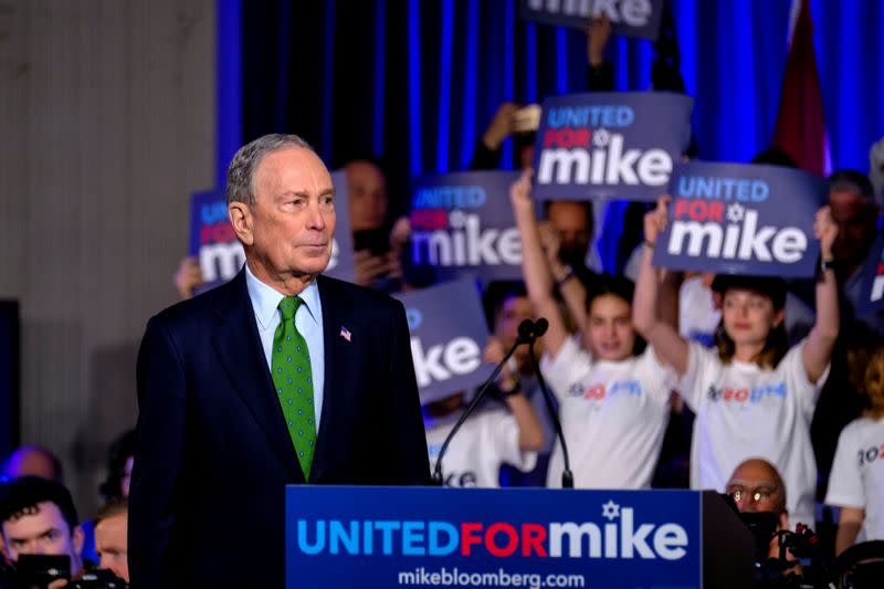 FILE PHOTO: Michael Bloomberg speaks in Miami