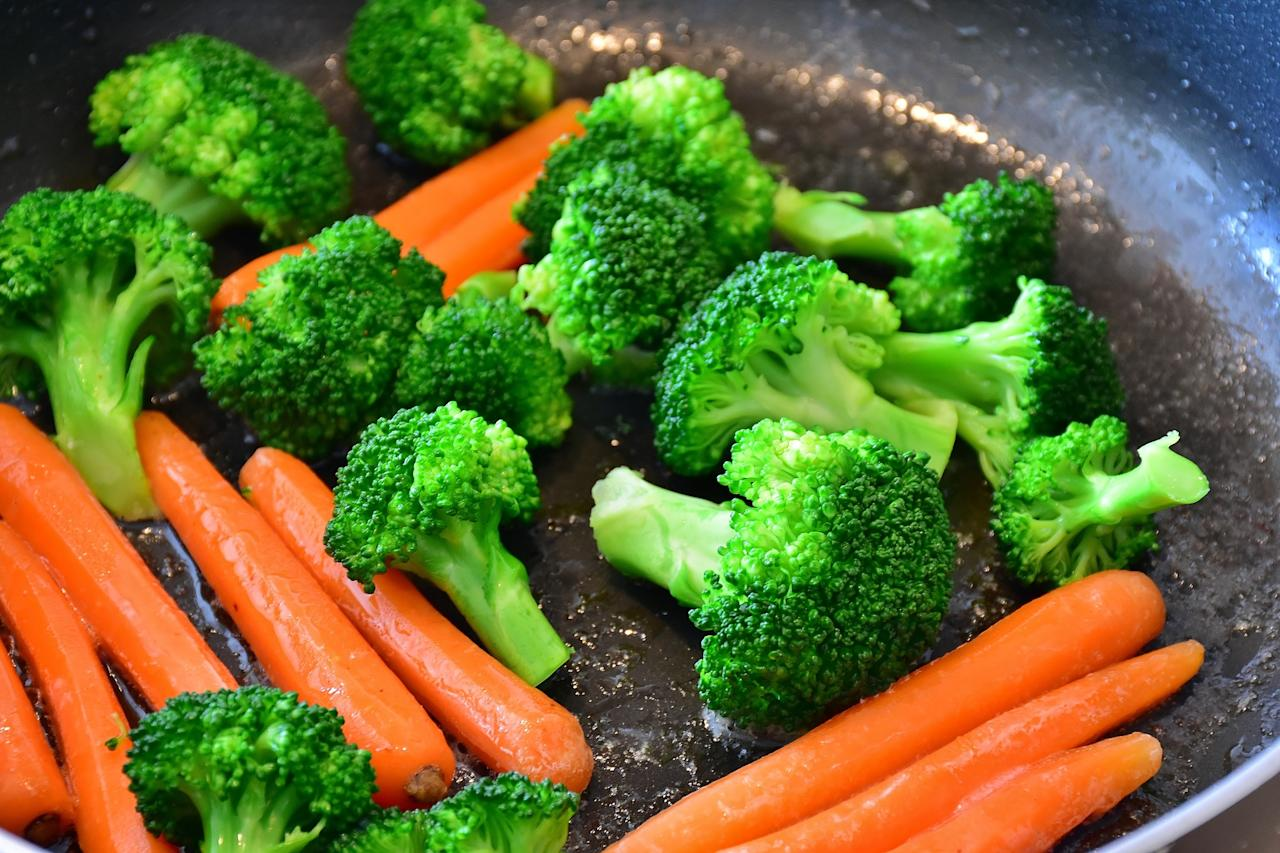 <p>There's some evidence that vegetarians have a lower risk for cardiac events (such as a heart attack) and death from cardiac causes. </p>