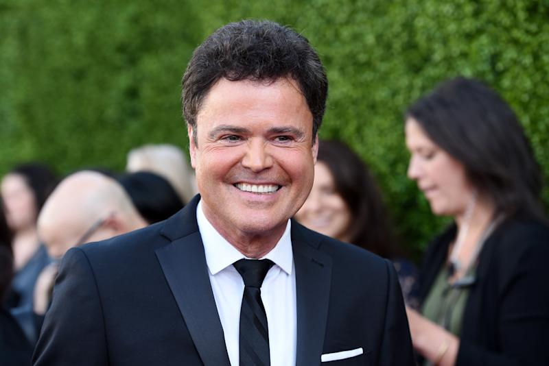 BEVERLY HILLS, CA - APRIL 11: Singer Donny Osmond arrives at the 2015 TV LAND Awards at the Saban Theatre on April 11, 2015 in Beverly Hills, California. (Photo by Amanda Edwards/WireImage)