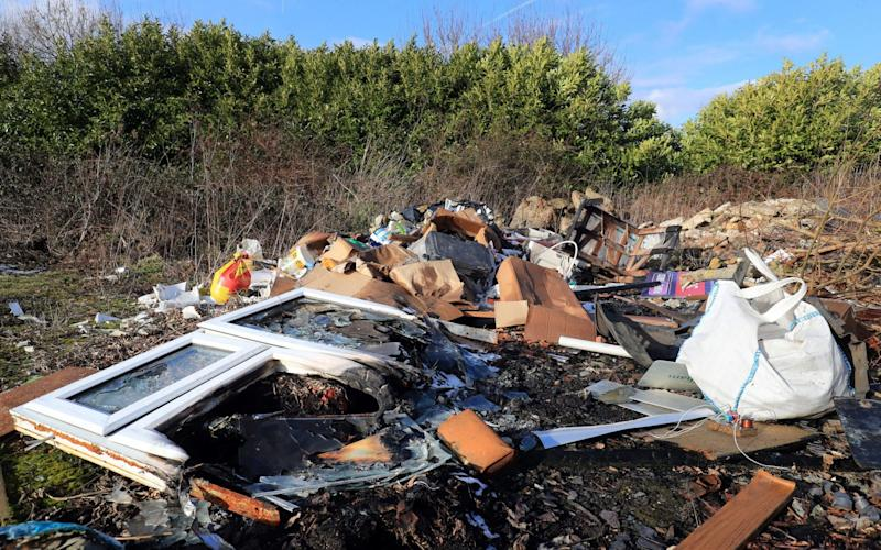 Telegraph readers argued that fly-tipping in their area had increased following the introduction of charges to dispose of household waste - PA
