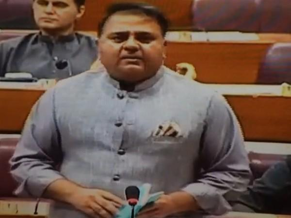 Pakistan Federal minister Fawad Chaudhury speaking at the National Assembly.
