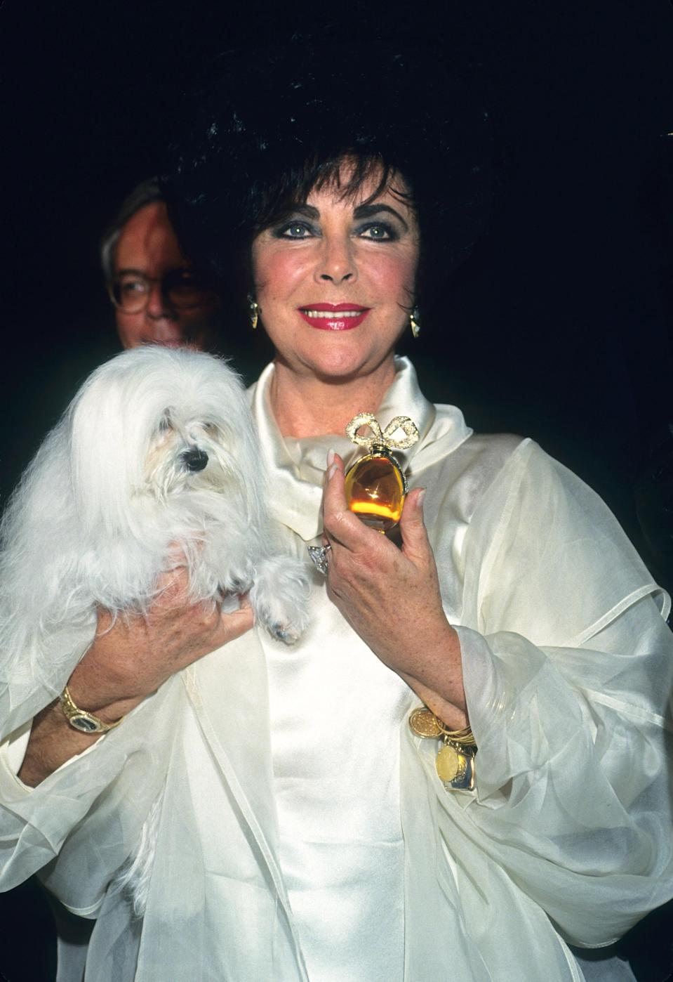 """<p>Elizabeth Taylor was one of the first celebrities to create their own scent. The legendary figure's 1991 White Diamond perfume went on to become the bestselling celebrity fragrance of all time. On her death, the <i>Guardian</i> estimated that the majority of her <a href=""""https://www.theguardian.com/film/2011/mar/29/elizabeth-taylor-worth-1bn-death"""" rel=""""nofollow noopener"""" target=""""_blank"""" data-ylk=""""slk:billion dollar estate"""" class=""""link rapid-noclick-resp"""">billion dollar estate</a> (£750 million) was down to fragrance sales.<br><i>[Photo: Getty]</i> </p>"""