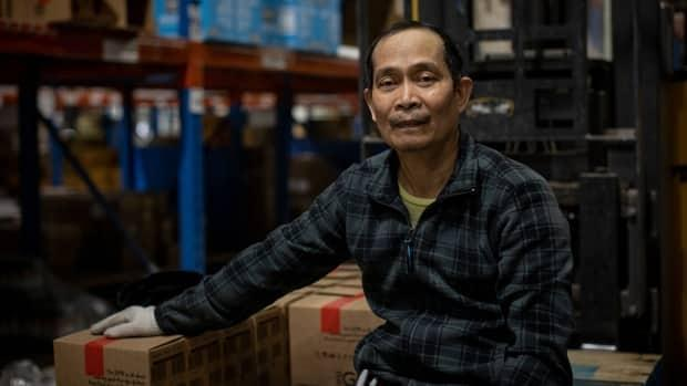 Alberto Tamayo is a forklift operator at Neal Brothers Foods in Richmond Hill, Ont.  He recently returned to work after getting paid leave for two weeks to self isolate after a positive COVID-19 test.