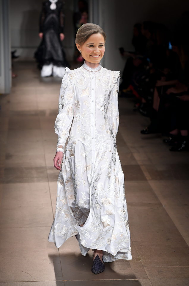 <p>Erdem is renowned for being old-fashioned – in the best way. Looking back through the rich history of his heritage, he combines ruffles, Victoriana silhouettes and a whole load of florals. Naturally, an Erdem wedding dress for Pippa will probably be toned down to say the least.<br /><i>[Photo: Getty]</i> </p>