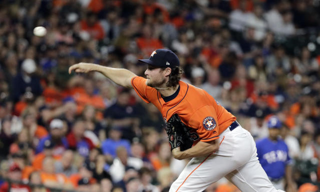 Gerrit Cole is showing the nastiest stuff of his career with the Astros and it's translating into more strikeouts. (AP Photo)