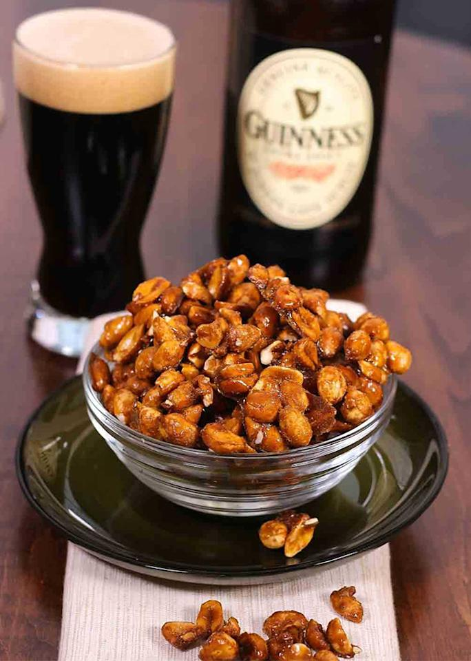 "Salty, sweet and crunchy, <a rel=""nofollow"" href=""https://zagleft.com/recipe/guinness-glazed-nuts/"">these glazed nuts</a> will keep your party guests satisfied."