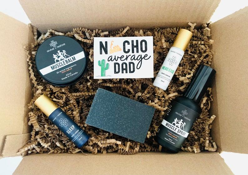 Father's Day Gift Care Package. Image via Etsy.