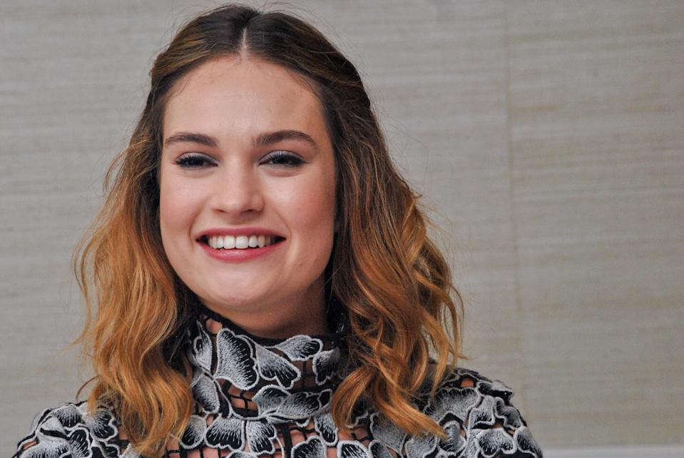 """Lily James at the Hollywood Foreign Press Association press conference for """"Pride and Predjudice and Zombies"""" held in West Hollywood, CA on January 22, 2016. (Photo by Yoram Kahana/Shooting Star) *** NO US TABLOID PUBLICATIONS *** NO USA SALES FOR 30 DAYS. *** Please Use Credit from Credit Field ***"""