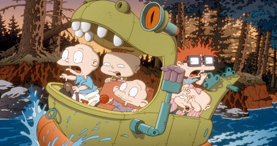 """<p><strong>What it's about:</strong> """"When his baby brother Dil is born, Tommy Pickles and his pals decide that he's too much responsibility and try to return him to the hospital.""""</p> <p><a href=""""https://www.netflix.com/title/18021979"""" class=""""link rapid-noclick-resp"""" rel=""""nofollow noopener"""" target=""""_blank"""" data-ylk=""""slk:Stream The Rugrats Movie on Netflix!""""> Stream <strong>The Rugrats Movie</strong> on Netflix!</a></p>"""