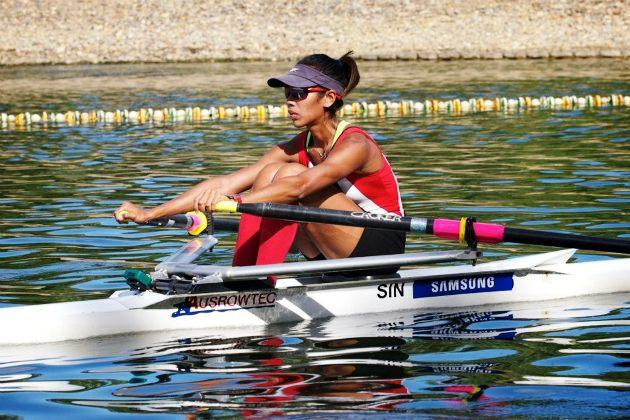Aisyah training in Australia ahead of her mission at the SEA Games. (Photo: Rowing Down Under / Aisyah's Facebook)