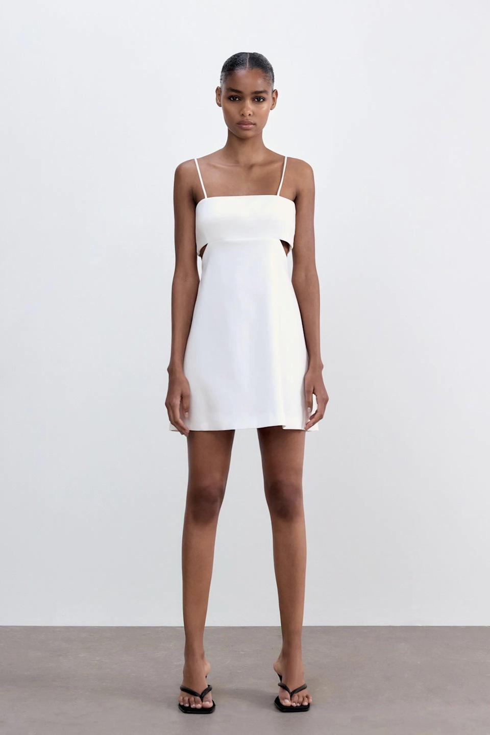 <p>This <span>Zara Dress With Cut Outs</span> ($40) is fun and flirty, perfect for summer.</p>