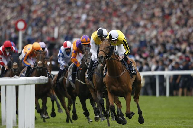 Leading from the front: James Doyle on board Big Orange: Getty Images for Ascot Racecours
