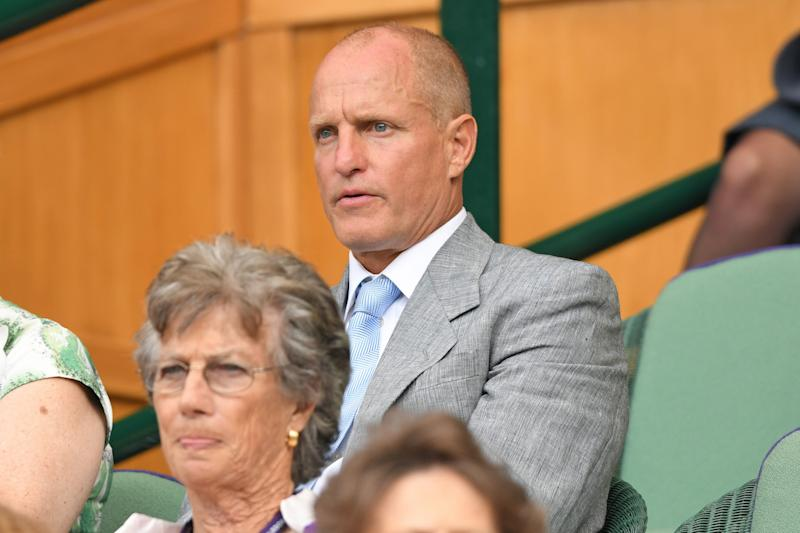 Woody Harrelson attended Wimbledon and captured everyone's attention. (Photo by Karwai Tang/Getty Images)