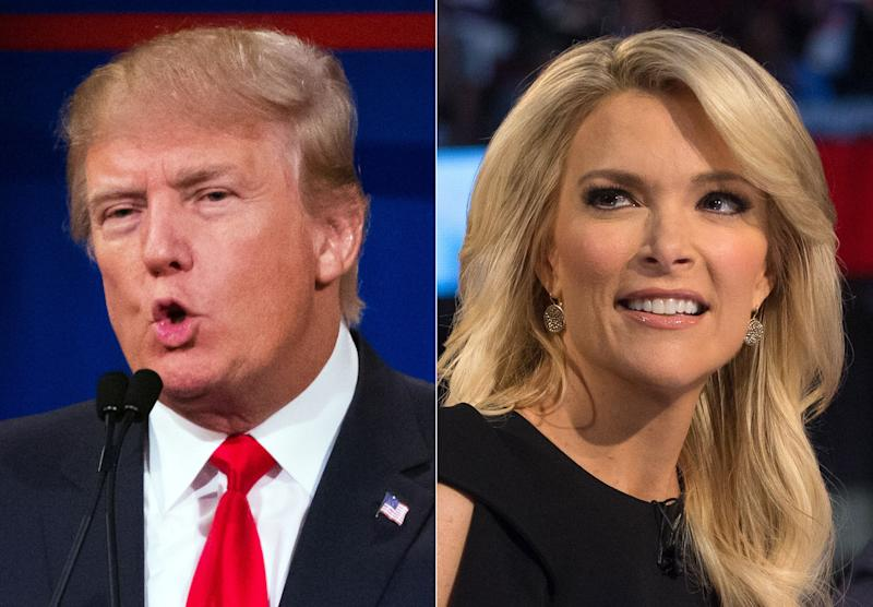"""Trump kicked off the early days of his presidential run in style by famously saying that Fox News' Megyn Kelly had <a href=""""http://www.huffingtonpost.com/entry/donald-trump-megyn-kelly-had-blood-coming-out-of-her-wherever_us_55c55a97e4b0923c12bd079c"""">""""blood coming out of her wherever</a>""""&nbsp;after she moderated a GOP debate and questioned Trump for having previously labeled women """"fat pigs"""" and """"dogs."""" (He also <a href=""""https://twitter.com/realDonaldTrump/status/629553612839124992"""" target=""""_blank"""">retweeted a comment</a>&nbsp;calling Kelly a """"bimbo."""")"""