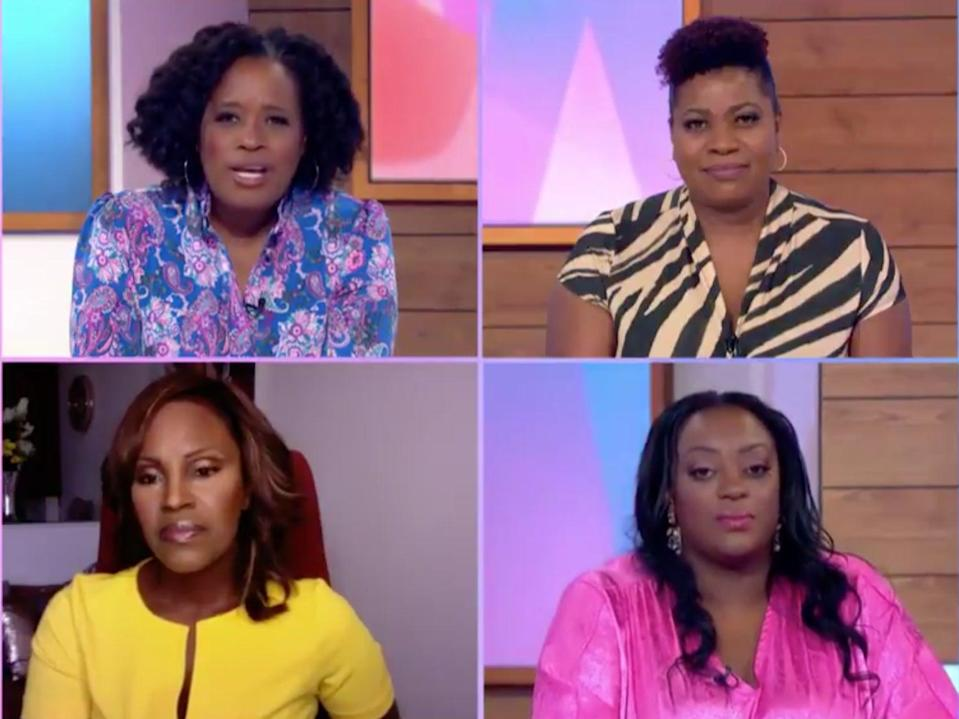 Four black women presented 'Loose Women' on Thursday (ITV)