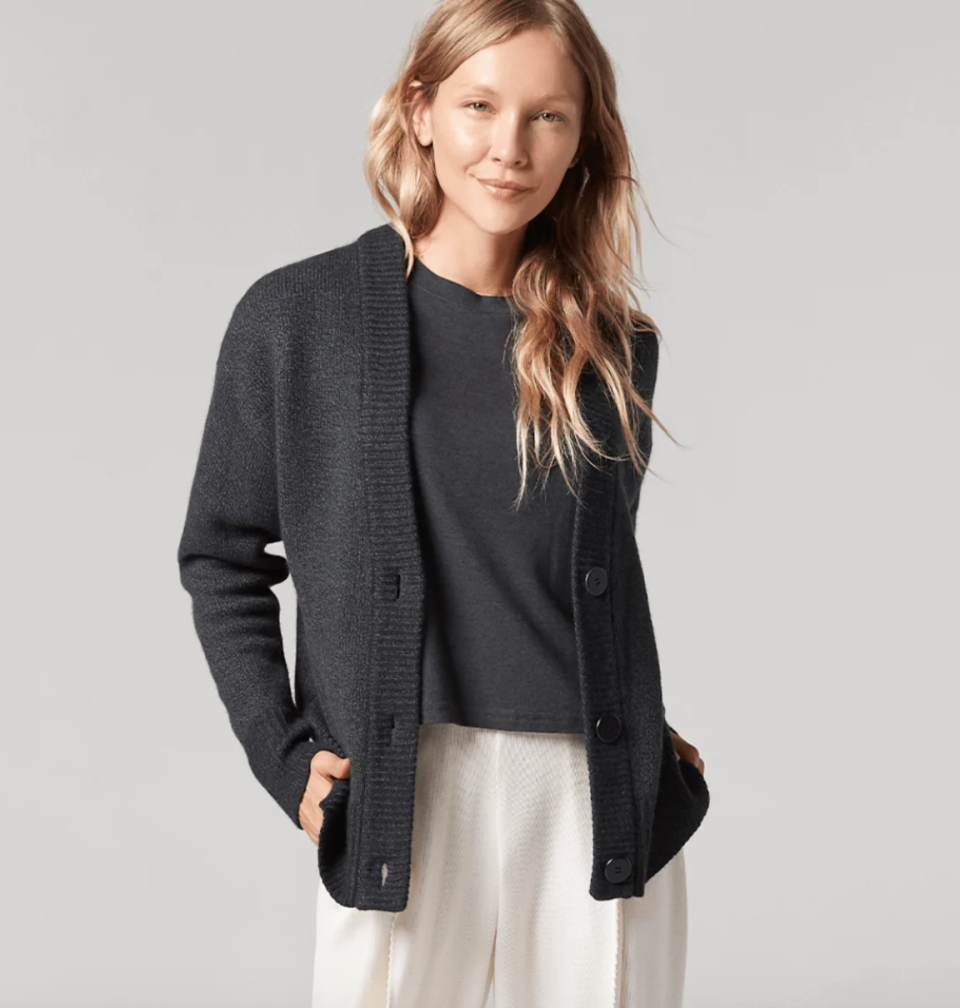 The Wool Cardigan is available in three different colours for both men and women.