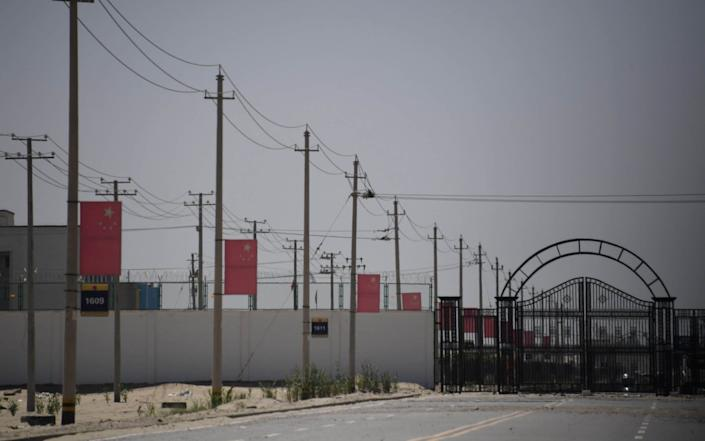 The camps have been described by the Chinese government as 're-education' facilities for Uighur Muslims - GREG BAKER/AFP
