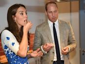 <p>The royals don't just slice cake, they often sample it. The Duke and Duchess of Cambridge enjoyed the dessert during a visit to youth charity, Youthscape. </p>