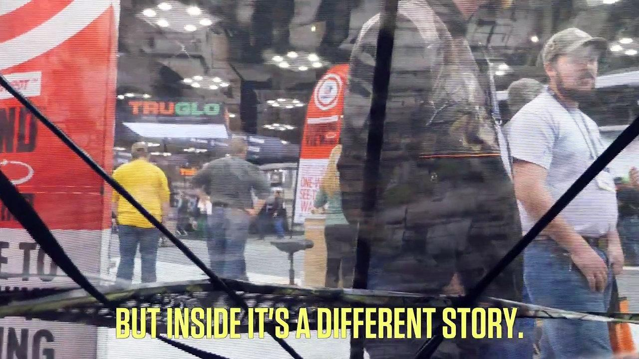 Think of this new Primos Double Bull SurroundView Blind as something of a one-way mirror. You can see out of it; deer and turkeys can't see in. It's definitely one of the most talked-about new products of this year's Archery Trade Association show.